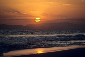 Glorious sunset on the Arabian Sea at Salalah, Oman. W1386