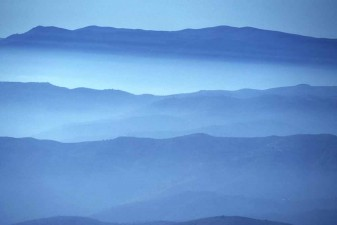 Layers of clouds resting in the Alpujarra mountains of Andalusia, Spain. S0674