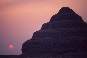 King Djoser's Step Pyramid at Saqqara after sunset. W8258